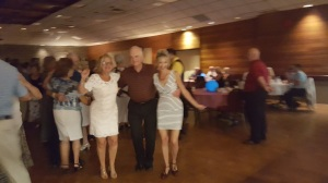 Dorothy, Stephanie & Robert enjoy the party